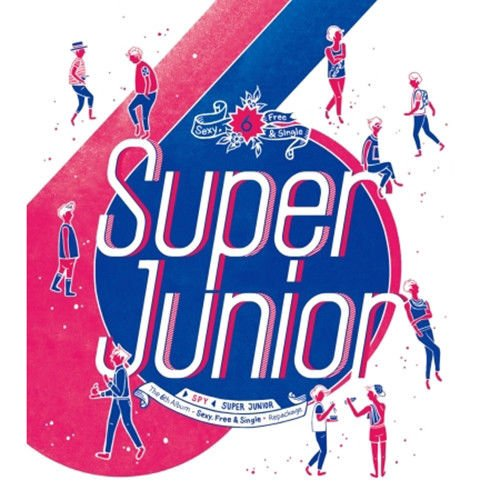 SUPER JUNIOR [SPY] 6th Repackage Album CD+Booklet+Tracking Number K-POP SEALED