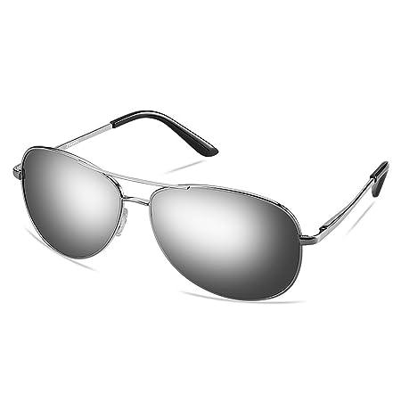 cf0a4277264 Zheino 5904 Full Mirror Sunglasses Men Women Pilot Polarized Anti Glare  Driving Glasses Riding Sports Eyewear Silver  Amazon.co.uk  Sports    Outdoors