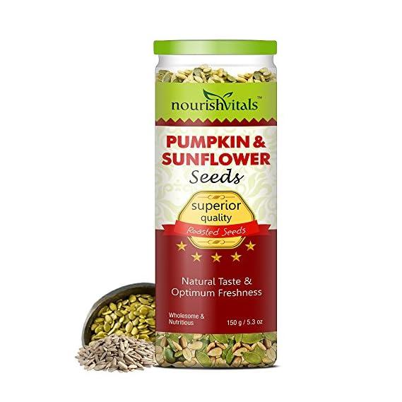 NourishVitals Roasted Pumpkin and Sunflower Seeds (150g)
