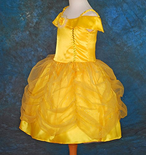 Dressy Daisy Girls' Belle Princess Costume Party Fancy Dresses Up Size 3-4T Gold