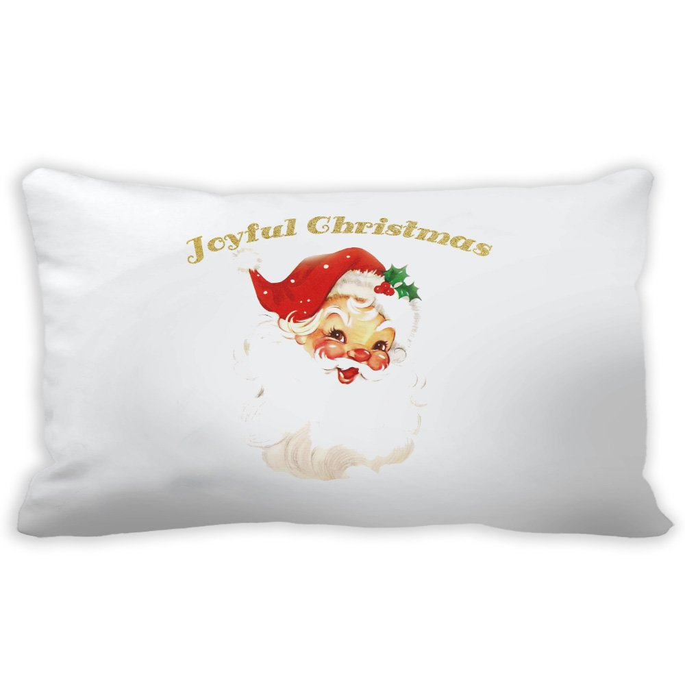 yilooomクリスマスPillow Cases Joyful Christmas Santaランバーサポート枕Casess Cases 12 x 18インチ 12x24 lumbar pillow covers#K-LWXBX-272-3 B076K92SQJ マルチ 12x24