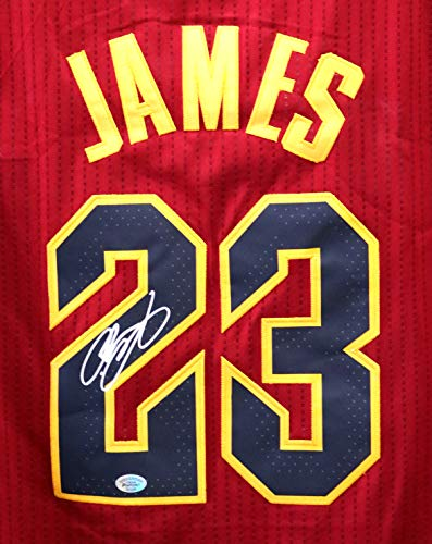 Lebron James Cleveland Cavaliers Cavs Signed Autographed New Style Wine #23 Jersey