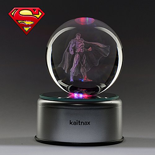 Comics+3D+Night+Lamp+ Products : 3D Cool Laser Etching Crystal Ball Night Light Gift Lamp for Kids Children Christmas (Superman)
