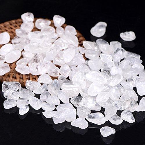 Bingcute 1lb Bulk Tumbled Crystal Quartz Crystals- Small 1/2