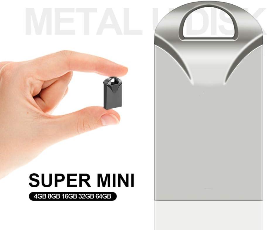 Zmsdt Real Capacity USB Flash Drive 64GB 32GB 16GB 8GB 4GB Mini Pen Drive Memory Stick USB 2.0 Flash Metal USB Flash Drive Color : Black, Size : 64GB