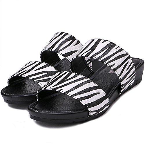 Sandali Della Spiaggia Di Modo Delle Donne Di Tongpu Pantofole Per Le Donne Zebra