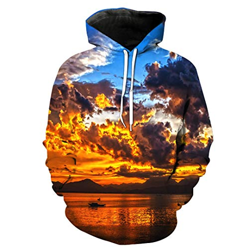 3D Hoodies Print Calm Landscapes Water Pattern Slim Unisex Slim Stylish Hooded Hoodies 0519 5XL - Soft Surroundings Long Skirt Skirt