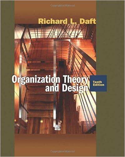 Organization Theory And Design Daft Richard L 9780324598896 Amazon Com Books