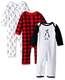 Hudson Baby Baby Cotton Coveralls, Penguin, 9-12