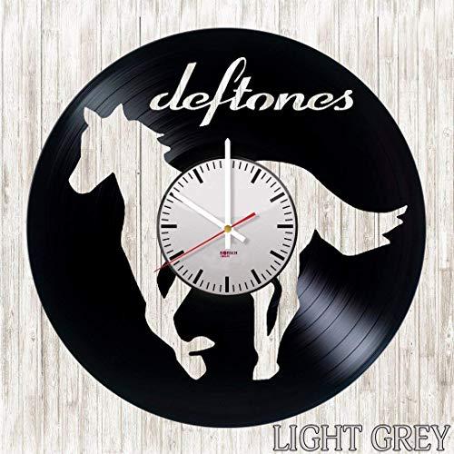 Home & Crafts Deftones Handmade Vinyl Record Wall Clock - Get Unique Living Room Wall Decor - Gift Ideas for Boys and Girls, Teens – Rock Music Unique Modern Art Design