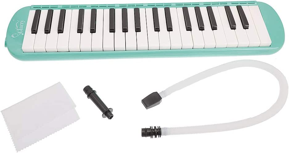 Shamdon Home Collection Glarry 37-Key Rise by Sawtooth Piano Style Melodica with Mouthpiece /& Hose /& Bag Green