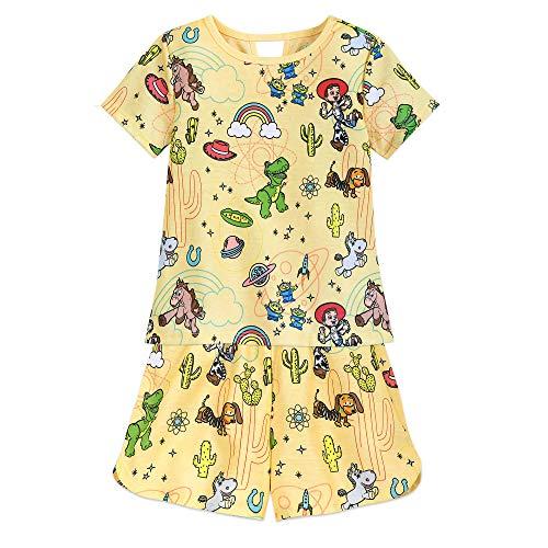 Disney Toy Story Short Sleep Set for Girls Size 5/6 Multi (Toy Story Jessie Pajamas)