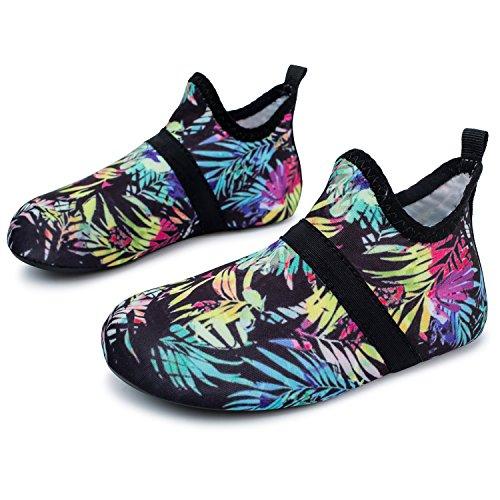 L-RUN Kids Water Aqua Shoes Athletic Outdoor Sports Shoes Black 5-5.5=EU 20-21