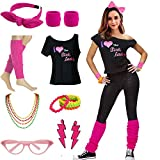 Women's I Love The Pink Ladies 50s T-Shirt Complete 50s 80s Costume Set