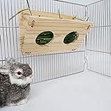 Tfwadmx Bunny Hay Feeder, Rabbit Food Dispenser