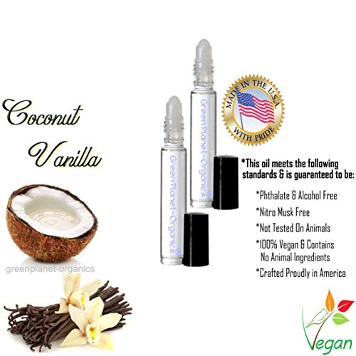 Incredible Fruits & Floral Perfume Oils (Select Your Favorite Scent) 41 Varieties (Coconut Vanilla) ()