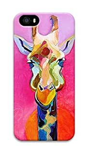 3D Hard Plastic Case for iPhone 5 5S 5G,Giraffe Painting Case Back Cover for iPhone 5 5S