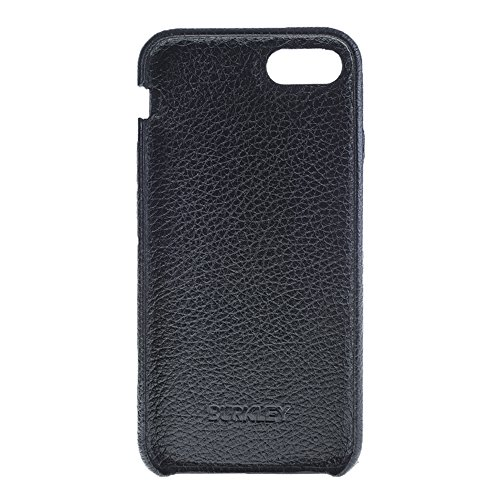 Burkley Case Full Leather Ultra Slim Snap-on Case for Apple iPhone 8/7 | Everyday Luxury Leather Case | Floater Black by Burkley Case (Image #2)