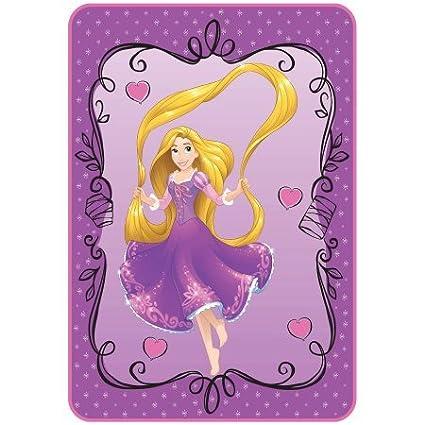 Disney Rapunzel Rapunzel Rocks 62 x 90 Blanket - Twin / Full Size Kids Warehouse