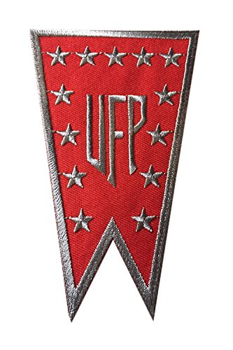 Star Trek Banners (Star Trek United Federation of Planets Red Banner Logo Embroidered Iron On Patch)