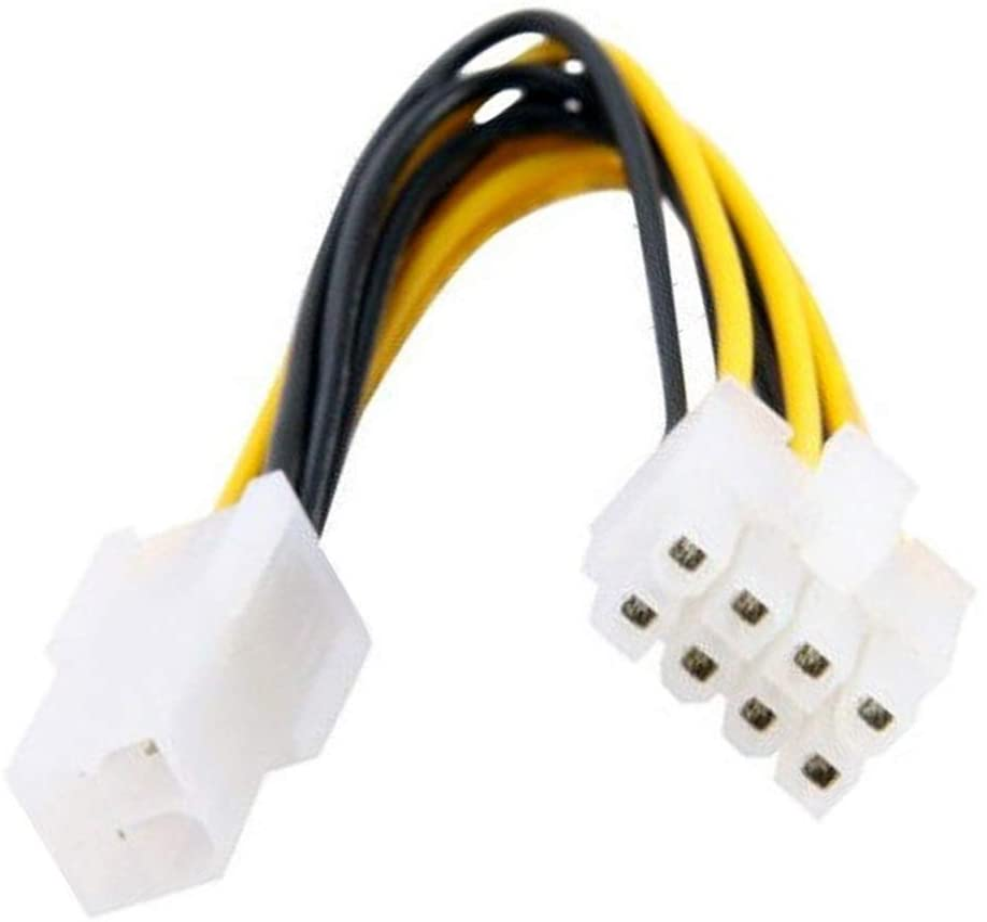CY 10cm 4pines a 8pines eps 12V ATX placa base cable conversor adaptador de fuente de alimentación