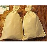 "2 Canvas Bank Coin Money Sack Bag 12"" By 19"" Deposit Change Bags Transit"