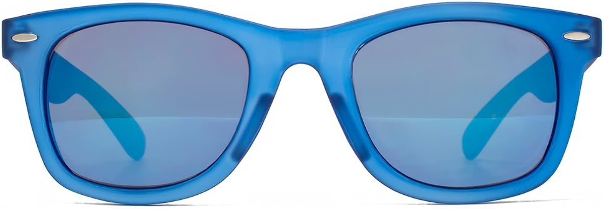 51cac628a9ec M:UK Brixton Wayfarer Style Sunglasses in Blue MUK147829: Amazon.co ...