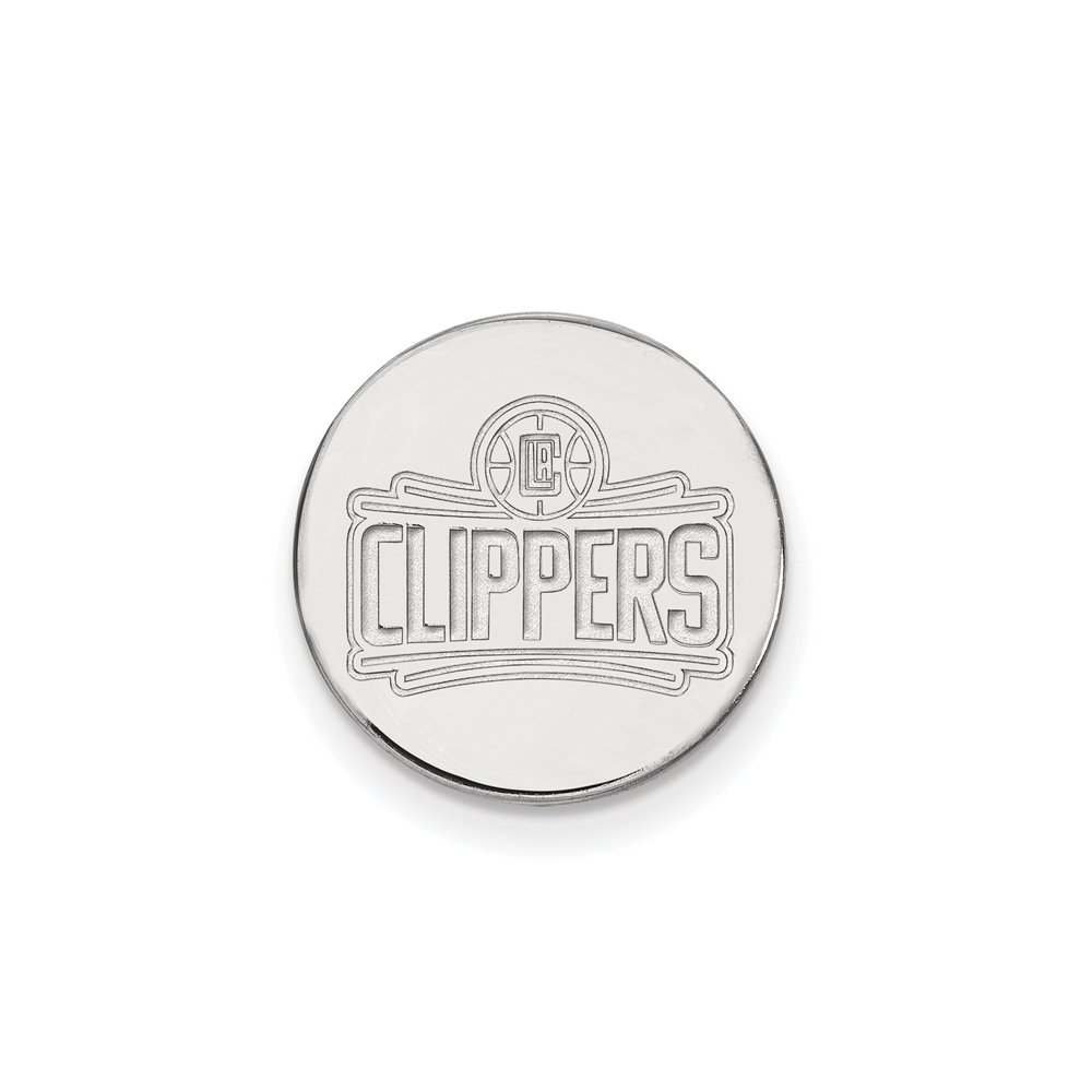NBA Los Angeles Clippers Lapel Pin in 14K White Gold