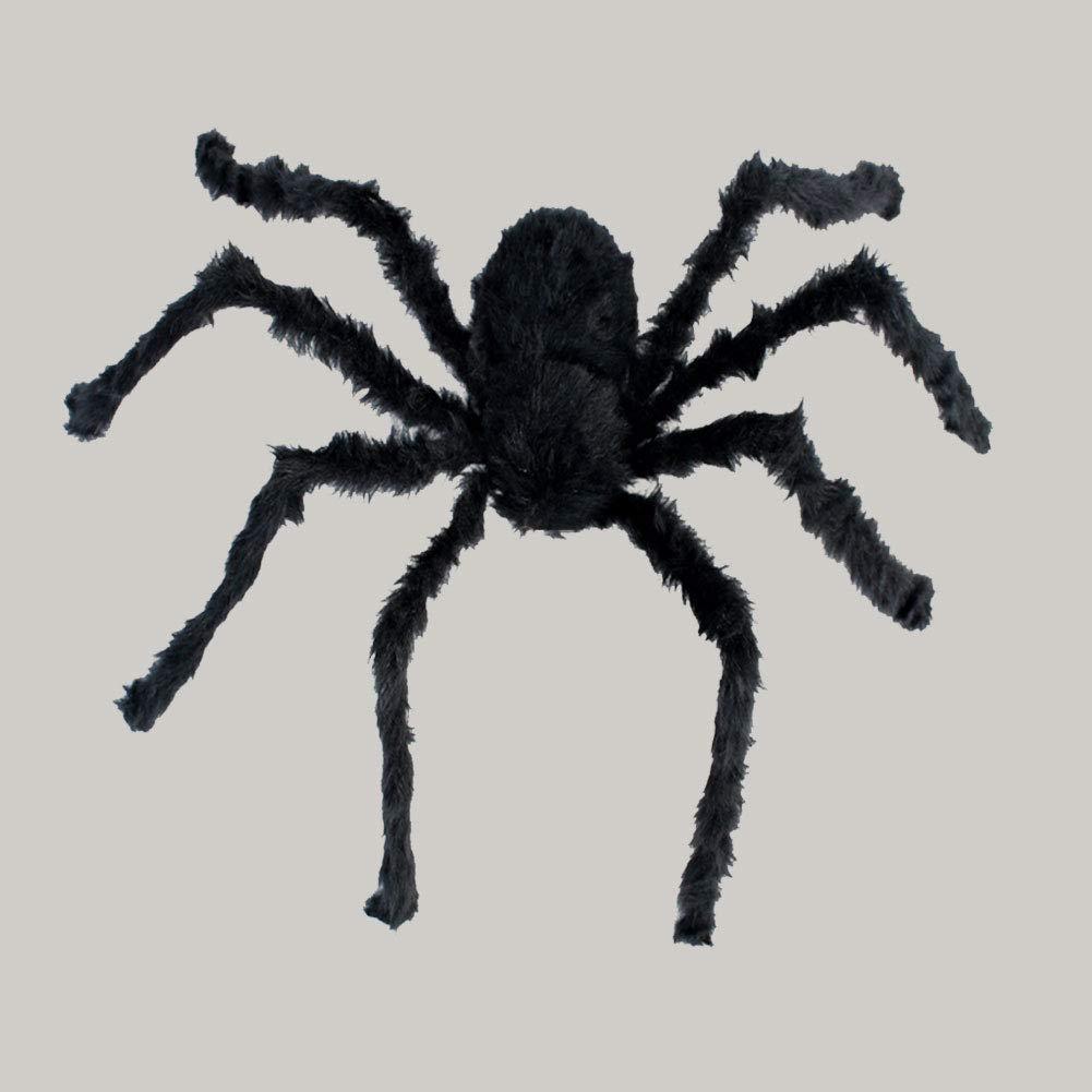 Peluche 120 centimetri Ragni di Halloween nero di grandi dimensioni Spider realistica Hairy Spider Spaventoso Halloween Party Decoration 1PC