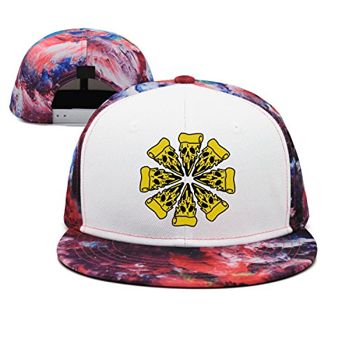 w4a4zp57uq4 Unisex Pizza Planet-Skull Pizza Near Me Pizza Delivery Baseball Cap Fashion Outdoor Sport Cap
