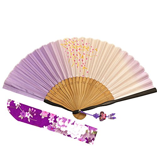 Wise Bird Chinese Japanese Folding Hand Fan, Fashion Accessories Vintage Retro Style 8