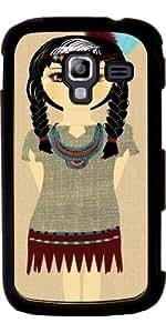 Funda para Samsung Galaxy Ace 2 (GT-I8160) - Muchacha India Americana Nativa by Blingiton