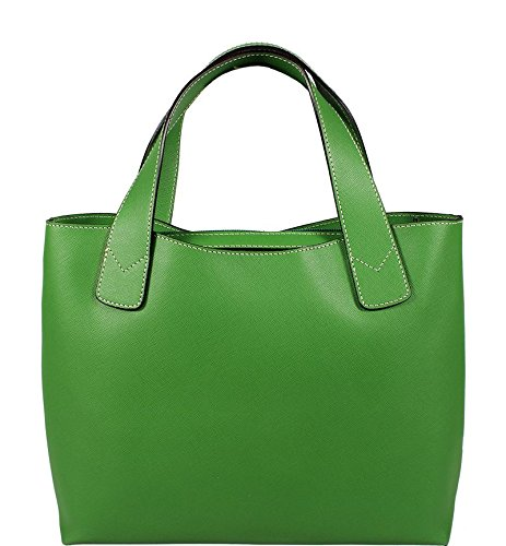 Attractive practical leather Luciana Verde to hand