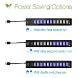 Satechi 12 Port USB Hub with Power Adapter & 2