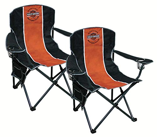 Harley-Davidson Bar & Shield Compact Chair, X-Large Size w/Carry Bag Set of 2