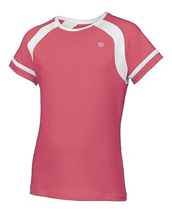 Wilson - Vestido de pádel para niña, tamaño L, Color Rosa/Blanco ...
