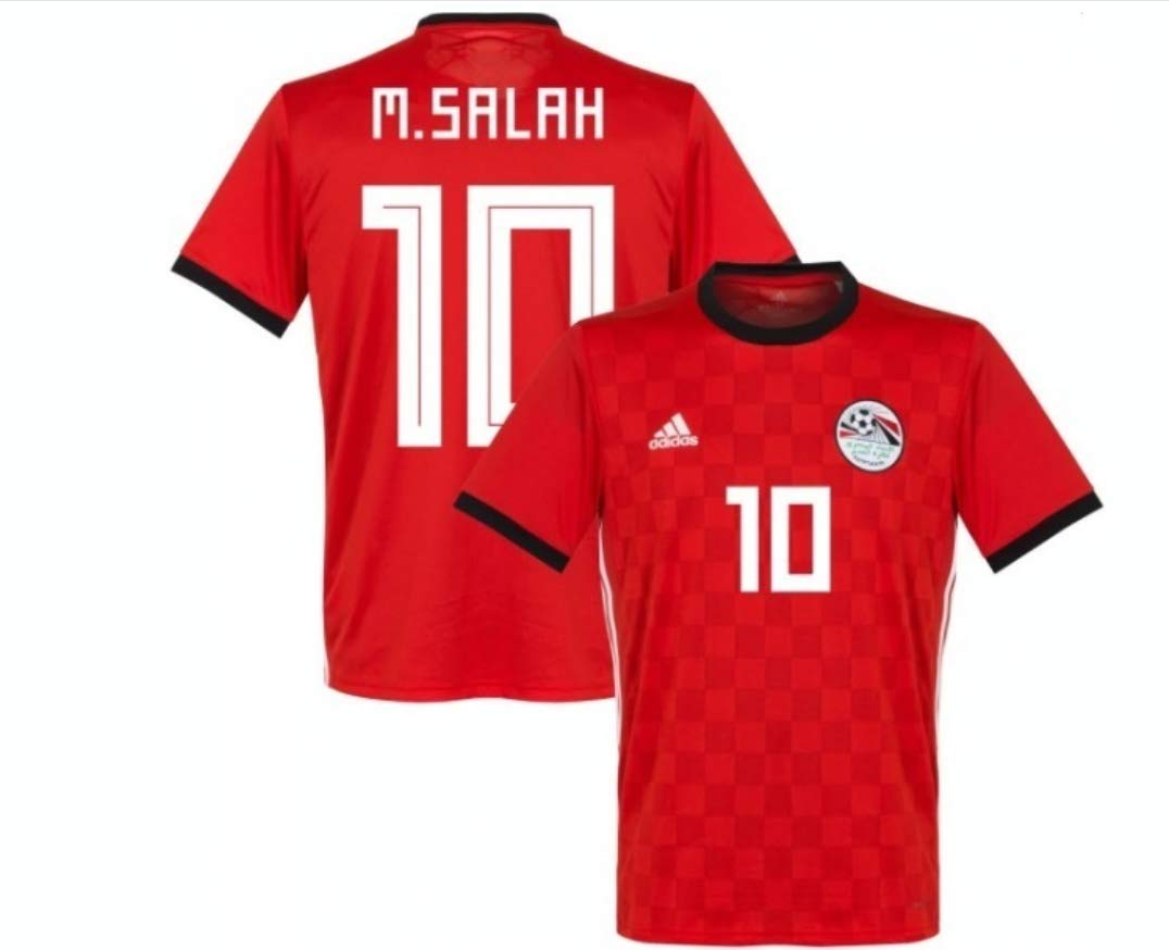 new concept ac79a 98d23 Mohamed Salah #10 Egypt National Team Jersey Russia 2018 (L ...