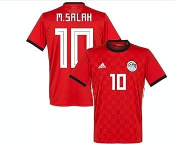 new concept 4de16 b217d Mohamed Salah #10 Egypt National Team Jersey Russia 2018 (L ...