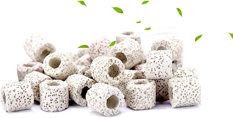 bio-anillos anillos de cer/ámica para todo tipo de peceras para acuario filtro de cer/ámica premium Anillos de filtro de cer/ámica 250 g