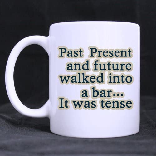 Amazon.com: Funny Quotes Past, Present and future walked into a ...