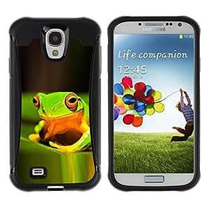 "Pulsar iFace Series Tpu silicona Carcasa Funda Case para Samsung Galaxy S4 IV I9500 , Verde de la selva tropical Feliz Naturaleza Tropical"""