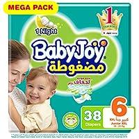 Babyjoy Compressed Diamond pad Diaper, Mega Pack Junior XXL Size 6, Count 38, 16+ KG