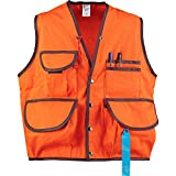 JIM-GEM Pro 10-Pocket Cotton Army Duck Cruiser Vest, X-Large, 43-46, Orange
