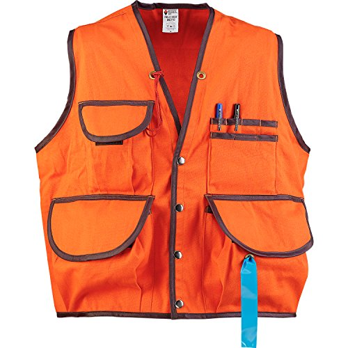 JIM-GEM Pro 10-Pocket Cotton Army Duck Cruiser Vest, X-Large, 43-46, Orange by Jim Gem (Image #6)
