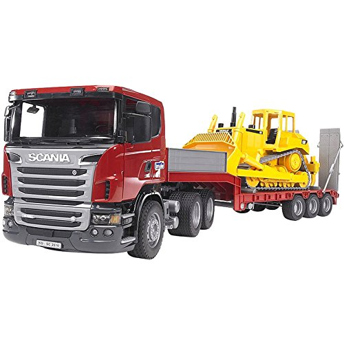 (Bruder 3555 Scania R-Series Low Loader Truck )