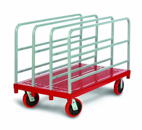 Raymond 3918 Steel Heavy Duty Panel and Sheet Mover with 4 Uprights and 8'' x 2'' Quiet Poly Caster, 3200 lbs Capacity, 54'' Length x 30'' Width by Raymond