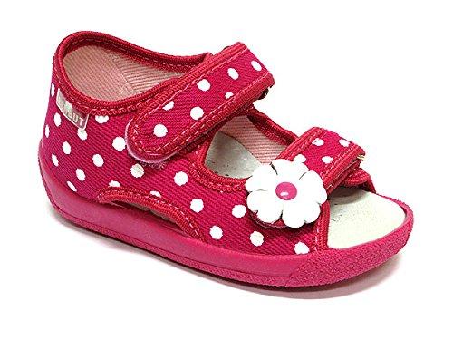 Baby Comfort , Baby Mädchen Lauflernschuhe Shine Check Flower 6 ( 23 EU ) White Dots Flower 2