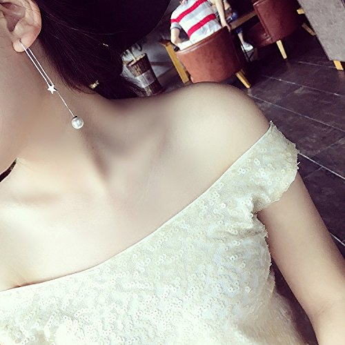 Pave Personalized Necklace - TKHNE Korea sent straight Micro Pave zircon Jiang Shuying personalized five-pointed star with money ear wire earrings earrings women girls earrings with jewelry