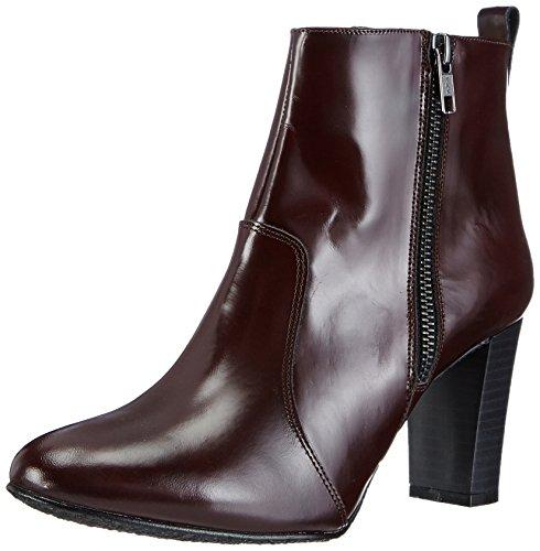 Johannes W. Krychelle - botas de cuero mujer rojo - rojo (burdeos)