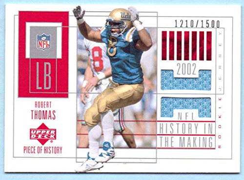 (Robert Thomas 2002 UD Piece of History History in the Making College Worn Jersey #160 - 1210/1500 - UCLA Bruins)